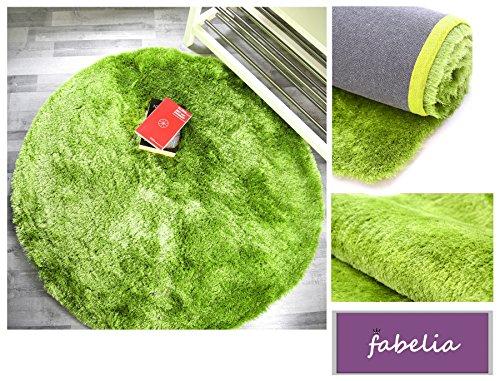 High Pile Shaggy Tapijt Luxe Groen Zacht 10 x 10 cm Muster