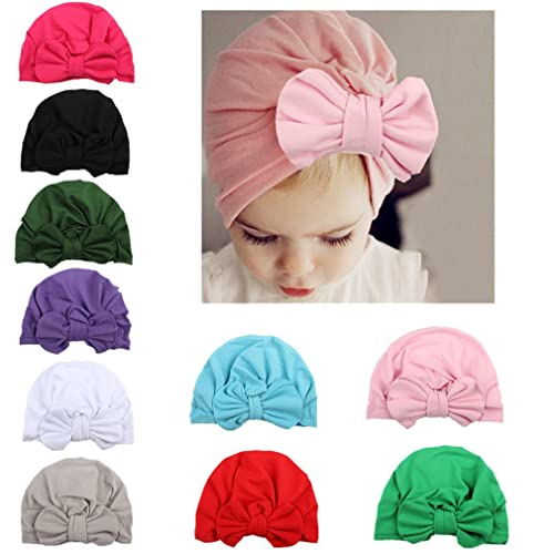WZT Newborn Elastic Sretch Head Wrap Infant Turban Toddler Baby Girl Knot  Headbands 66186252434