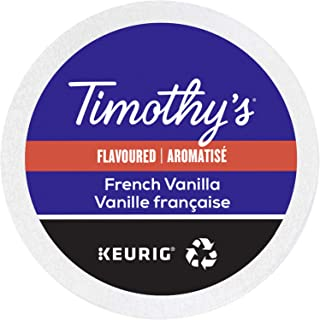 Timothy's World Coffee, French Vanilla, K-Cup Portion Pack for Keurig K-Cup Brewers, 24-Count (Pack of 2)