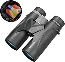 10X42 High Power Binoculars for Adults with Low Light Lightweight Folding Compact Waterproof Telescope for Bird Watching Hunting Travel Football Games Stargazing