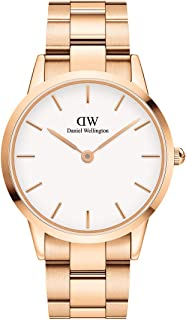 Daniel Wellington Men's Iconic Link Watch, 40mm, Rose Gold/White