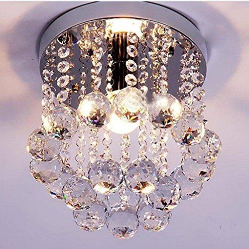 TB-Iluminación interior Chandelier Crystal Light - Luces de vestíbulos, luces de entrada, luces de pasillo, luces de balcón, luces de techo, Living Luces de comedor Stairwell (12 cm de diámetro) cande