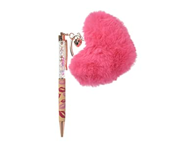 Betsey Johnson Lips Pom-Pom Pen (Fuchsia) Wallet