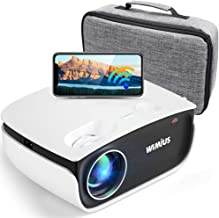 WiFi Projector 5500Lux HD, Bluetooth Mini Projector Zoom 50%, WiMiUS New S25 Home & Outdoor Movie Projector Support 1920 x...