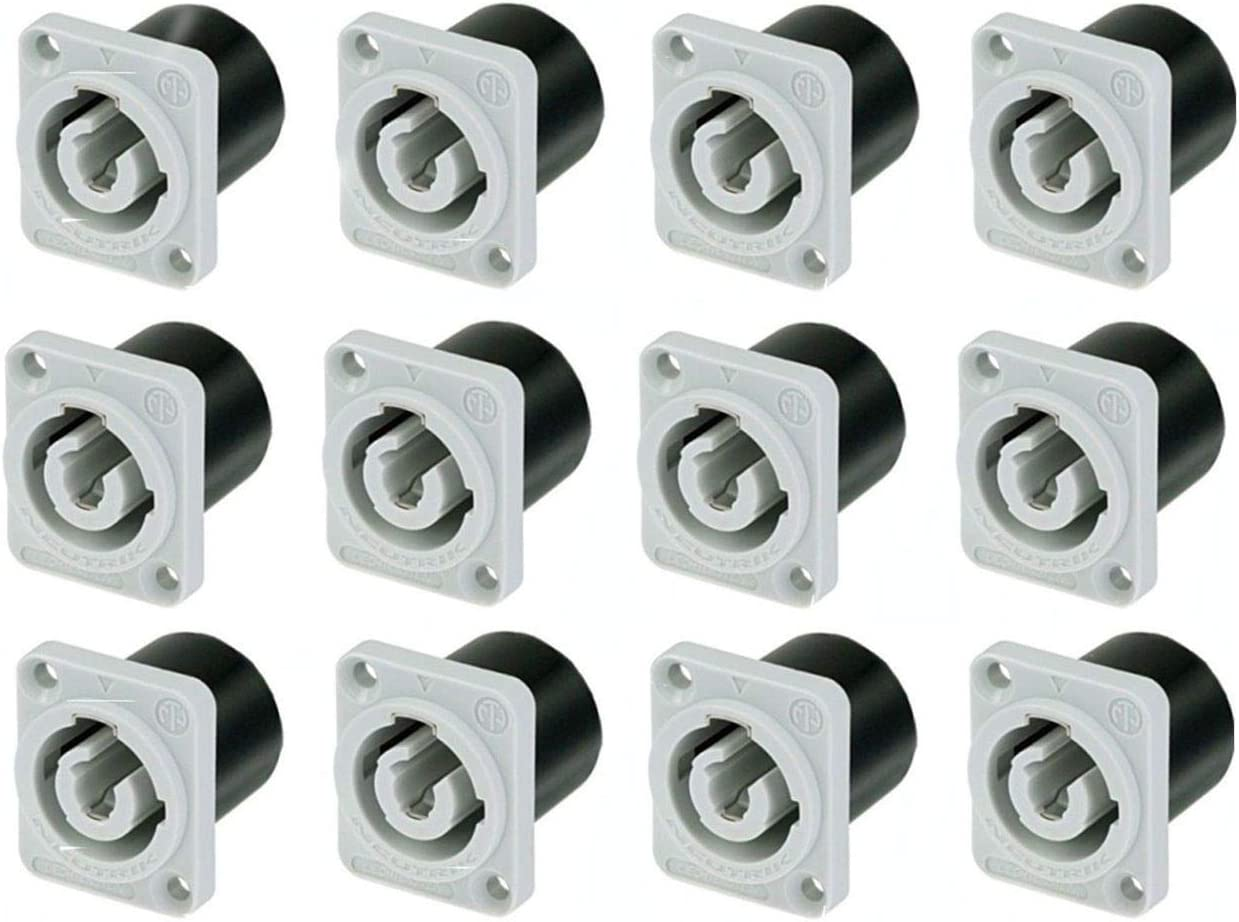12 Pack Neutrik NAC3MPB-1 Powercon Special price Out Power Rat Receptacle Gray High material