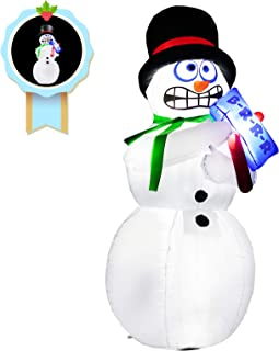 inslife 6 Ft Christmas Animation Snowman Decoration Inflatable Decorations with Shaking Body for Home Yard Lawn Outdoor Indoor Night