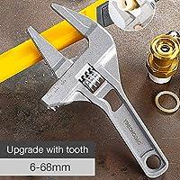 LILICEN 1つのピース大きな開口可動板鋼、アルミニウム合金クイック小さな短いハンドル衛生調整可能なレンチ16〜68ミリメートル (Color : B)