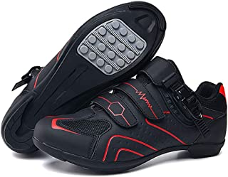 1 paire de chaussures de cyclisme respirantes avec semelle antidérapante pour compétition de cyclisme