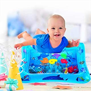 Baby Inflatable Water Play Mat - Tummy Time Baby Water Mat, Baby Activity Play Mat, Perfect Baby Toys for 3, 6, 9, 12 Month Babies Brain and Sensory Development.