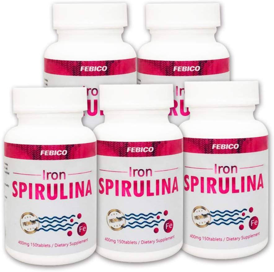 Iron Spirulina Tablets ∣ Vegan Natural security Max 88% OFF Multivitamin