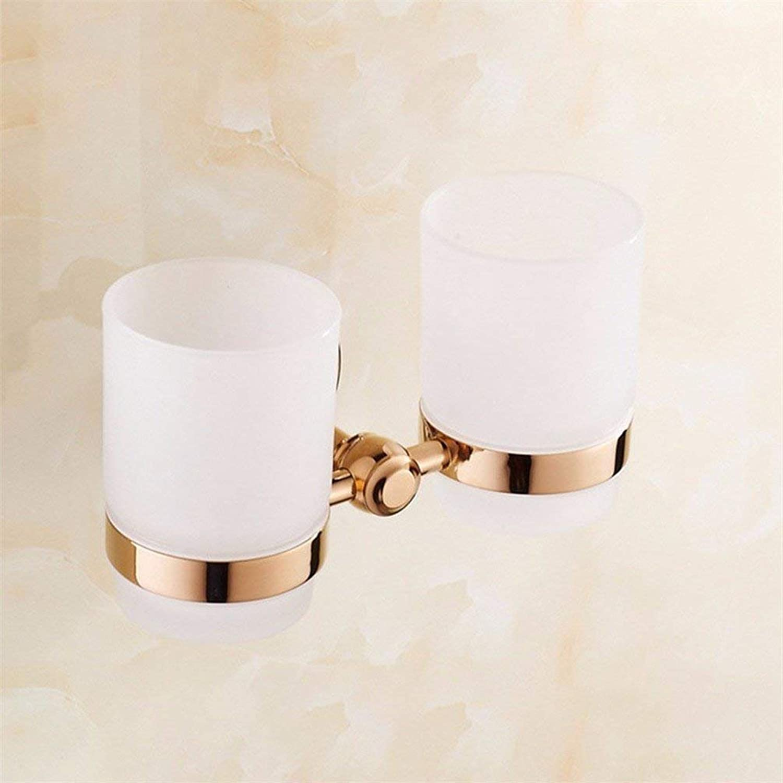 Complete Bathroom in The kit Copper Sealing Towels-Towels Door-Door Pink gold Toothbrush Toilet Paper,Hook-Bar Home