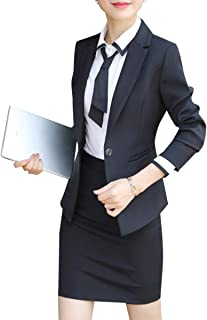 c7140e9b78520 Women s 2 Piece Business Dress Skirt Suit Set Office Lady Slim Fit Blazer  and Skirt