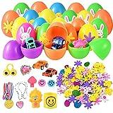Faburo Uova di Pasqua Giocattolo Riempite con Mini Giochi e Gadget