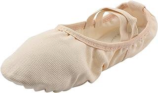 MSMAX Girl's Classic Ballroom Ballet Dance Slipper Pink