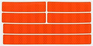 Adesivo refletivo de 1 folha BESPORTBLE Adesivo laranja fluorescente Adesivo decorativo Adesivo de bicicleta Decalque refl...