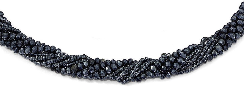 orden en línea Collar con cuentas de cristal de de de circonita austriaca y cúbica azul marino con cuentas de cristal  Ahorre 35% - 70% de descuento