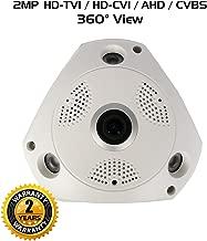 Ares Vision 4 in 1 AHD/TVI/CVI/Analog Fish-Eye 180 Degree Wide View Camera w/IR Night Vision (2 MP / 1080P), Flush Mount