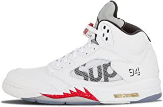 [ナイキ] Air Jordan V 5 Retro x Supreme WHITE 824371-101 [並行輸入品]