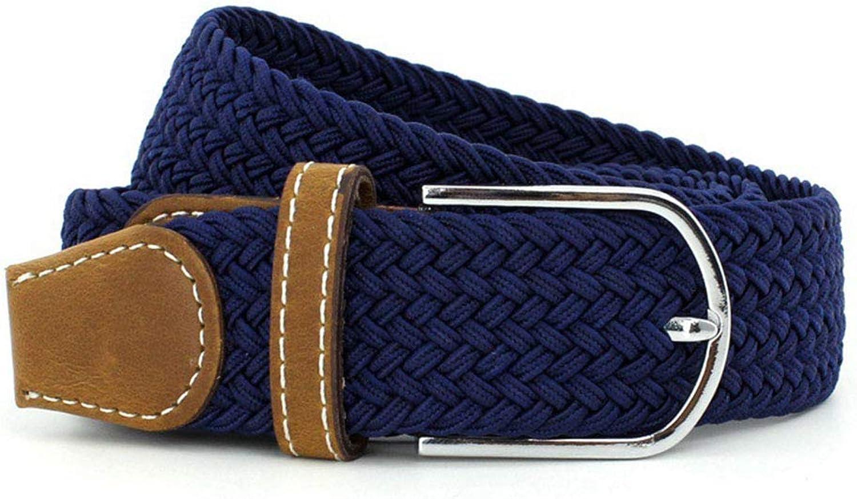630e6036 QARYYQ QARYYQ QARYYQ Elastic Woven Elastic Canvas Belt Men's Versatile Pin  Buckle Casual Belt Fashion Belt Belt (color blueee) 6450e9