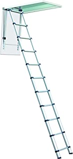 Telesteps 1000L OSHA Compliant 8-10 ft Ceiling Heights Telescoping Attic or Loft Ladder