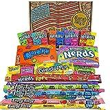 Heavenly Sweets Dulces Nerds Cesta Caramelos - Selection Americana con Surtido Nerds Rainbow, Mini, Laffy Taffy - Regalo...