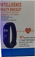سوار معصم ذكي ام 3 لمراقبة معدل نبضات القلب والنشاط البدني و معدل النوم