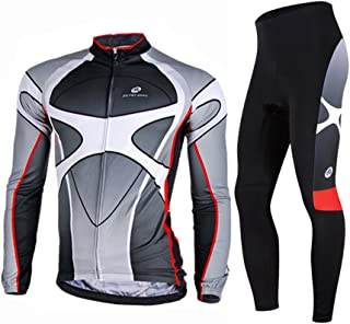 Men's Soft Long Sleeve Breathable Bicycle Cycling Jersey Polyester Clothing Outdoor Sports Fall Autumn