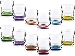 COM-FOUR® Vaso de whisky 12 con un diseño moderno y elegante, apto