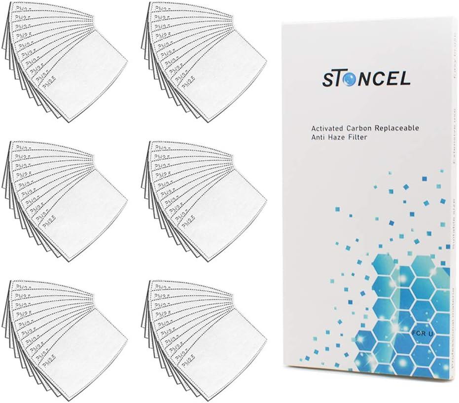 60 filtros de carbón activado de 5 capas con caja de almacenamiento STONCEL