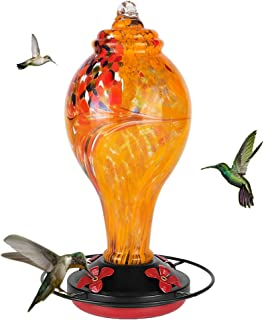Cesun Hummingbird Feeders for Outdoors Hanging Heavy Duty Glass Sparkles in The Sun, 36 Ounce Nectar Capacity, Easy to Cle...