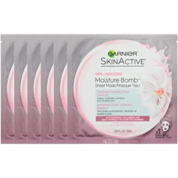 Garnier SkinActive Moisture Bomb The Super Hydrating Sheet Mask - Soothing, 6 Count
