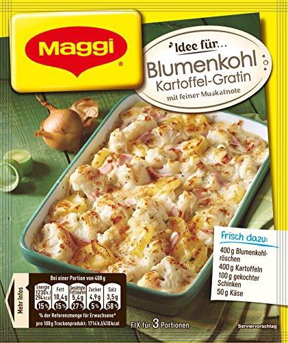 Maggi Fix für Blumenkohl-Kartoffel-Gratin, Beutel, ergibt 3 Portionen