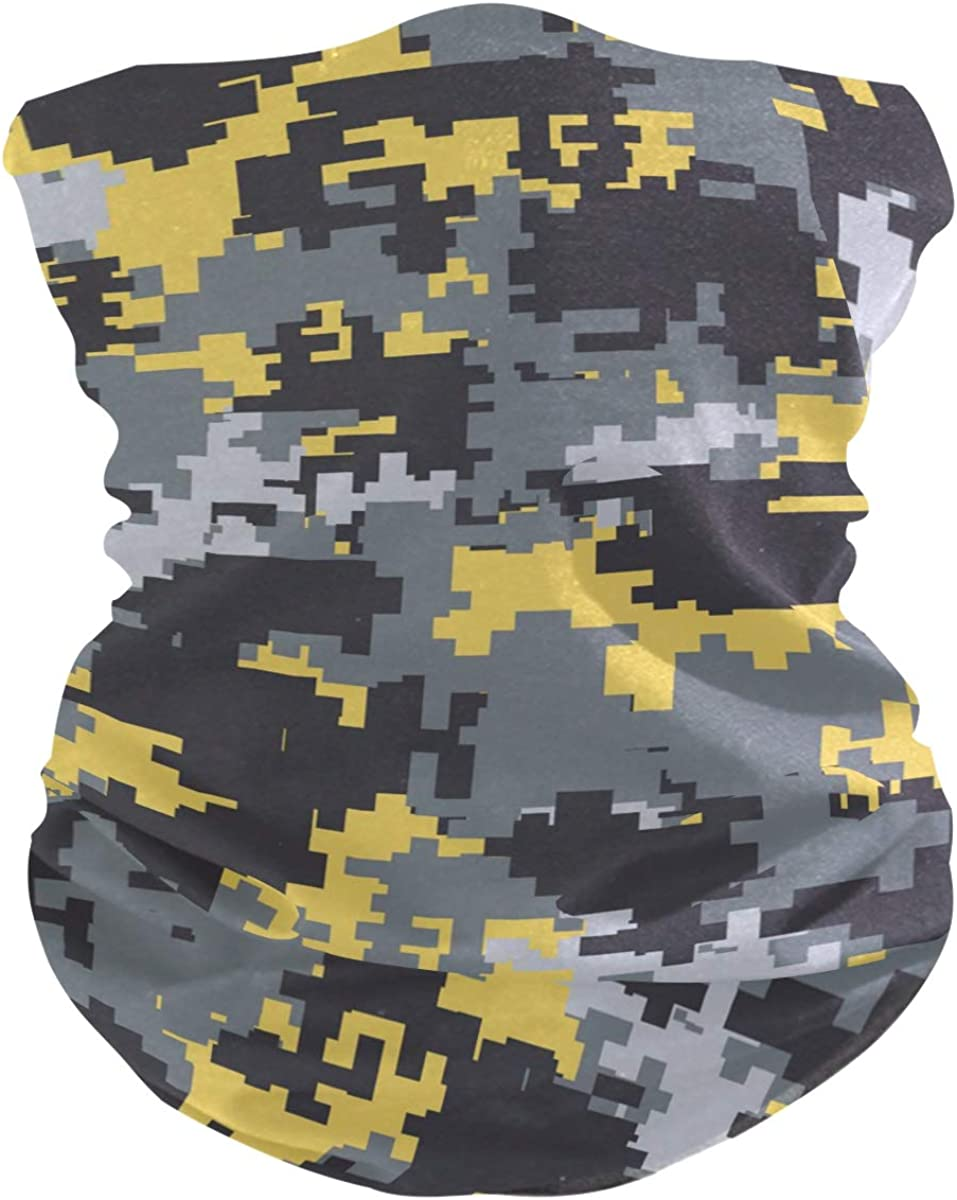 Face Mask Bandana for Women Men, Camouflage Neck Gaiter Balaclava Face Cover Sun Dust Mask Magic Scarf Headwear