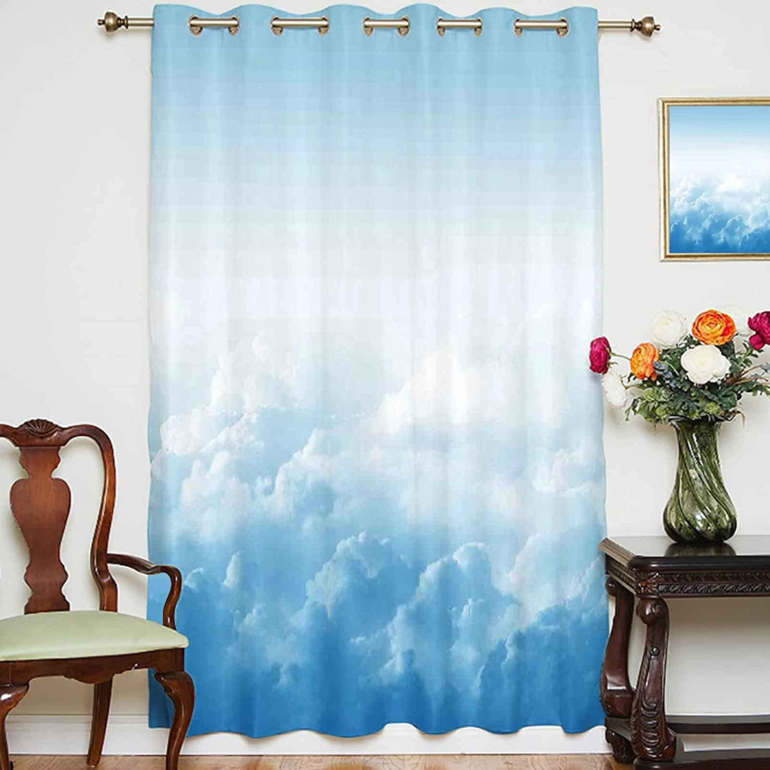 At the price of surprise oobon Blackout Shading Curtains Super sale Fluffy Clouds Ground Above High