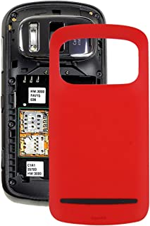 Mobile phone case accessories PureView Battery Back Cover for Nokia 808 (Red) (Color : Red)