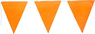 Indoor/Outdoor Pennant Banner (orange) Party Accessory (1 count) (1/Pkg)