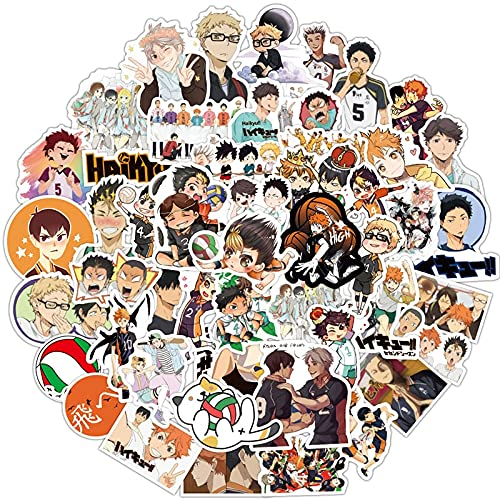 SHUHU ¡Niño de Dibujos Animados japonés Haikyuu!Pegatina de Voleibol para Maleta, Nevera, Scooter, Diario, Libro, Juguete para niños, 100 Uds.