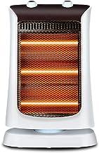 ZQZWY Estufa halógena,Estufa de Cuarzo, Interruptor de Corte de Seguridad con 3 configuraciones de Calor, 1200W (Blanco)
