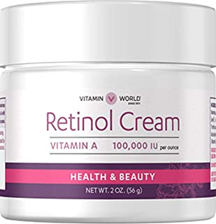Vitamin World Retinol Cream, 2 oz, A 100,000 IU per oz