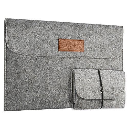 """EasyAcc 13-13.3 Zoll Filz Laptop Tasche Sleeve Hülle mit Zubehörtasche, Tragbar Laptoptasche Schutzhülle für 13.3\"""" (33,8 cm) MacBook Air/Pro Retina/Notebook/Ultrabook/Netbook, Dunkelgrau"""