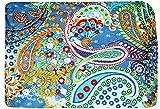 Indio tradicional 100% Tela de algodón puro Diseño de flor de hoja de Paisley Estampado 44'Ancho Tela de confección Medidor de tela de 2,5 metros para coser tela india por metro
