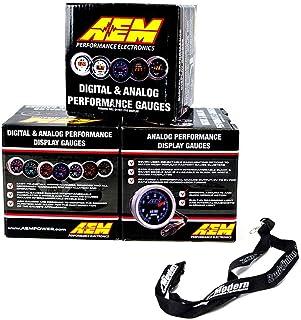 AEM 3 Gauge 52mm Set Oil Pressure + Fuel Pressure + Turbo Boost w/Lanyard