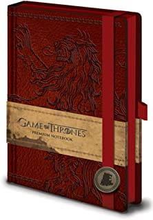 Official Game of Thrones Season 8 Premium 240 Lined Page Journal Notebook Westeros and Essos Maps Inside (House Lannister) inch