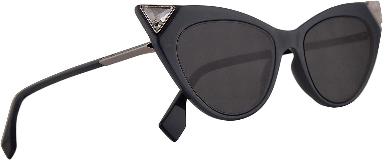 Fendi FF0356 S Sunglasses Black w Grey bluee Lens 52mm 807IR FF0356S FF 0356 S