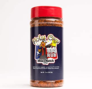 Meat Church Holy Cow BBQ Rub and Seasoning for Meat and Vegetables, Gluten Free, 12 Ounces