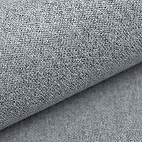 NOVELY® MALCHIN Flauschiger Polsterstoff im Leinenlook Möbelbezugsstoff (06 Steingrau)