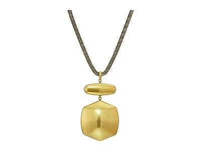 Kendra Scott Kaia Long Pendant Necklace (Vintage Gold Metal) Necklace