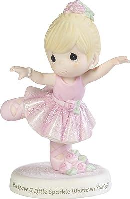 Precious Moments 192006 You Leave A Little Sparkle Wherever You Go Ballerina Girl Bisque Porcelain Figurine, Multi