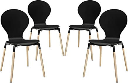 Modway Path Dining Chair,  Black,  Set of 4