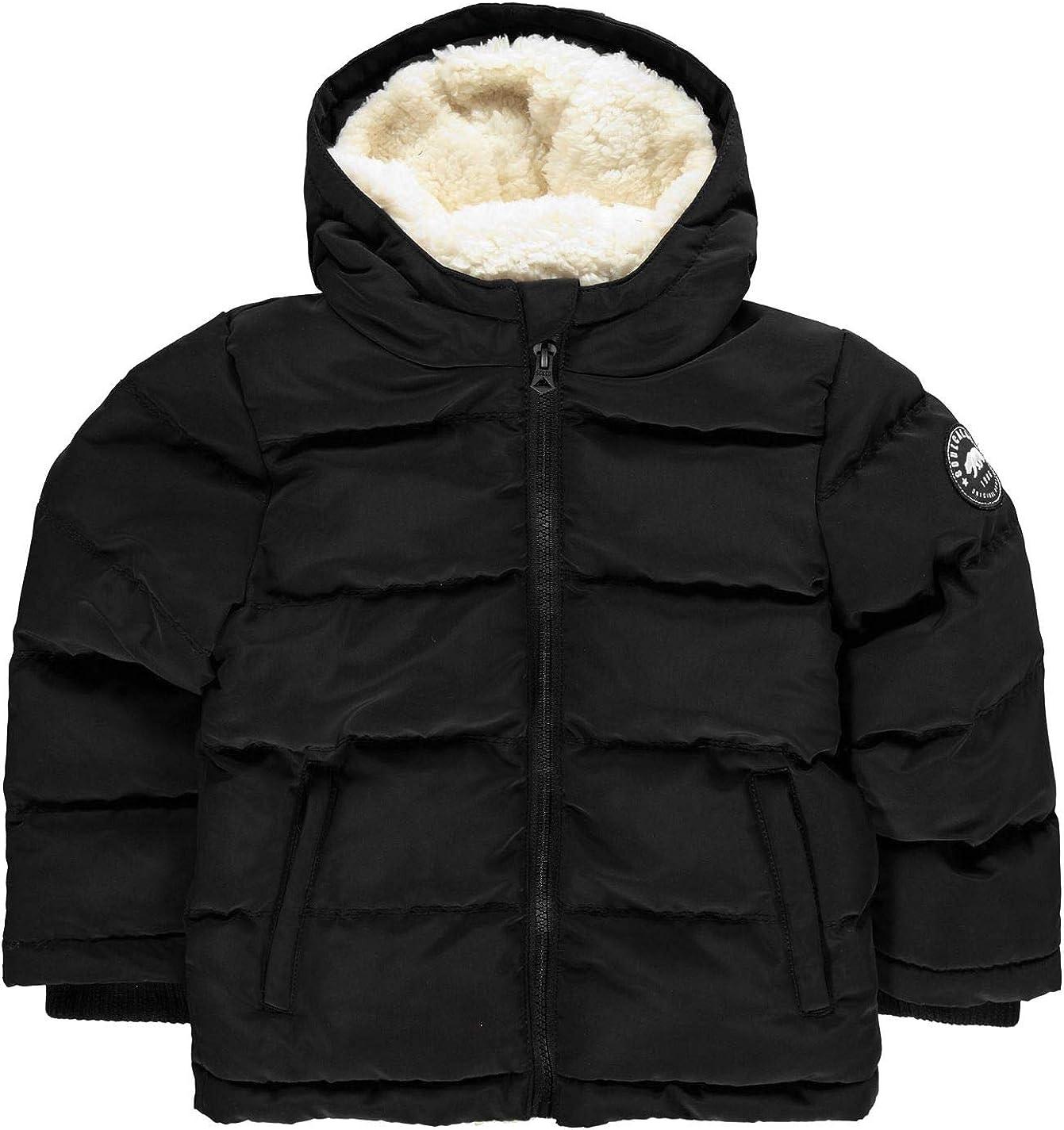 Soul Cal Kids Boys 2 Zip Bubble Jacket Junior Puffer Coat Top